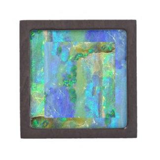Octubre del ópalo azul Birthstone por Sharles Caja De Joyas De Calidad