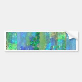 Octubre del ópalo azul Birthstone por Sharles Pegatina Para Auto