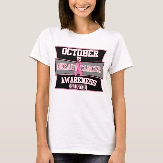 Octubre es el mes de la conciencia del cáncer de playera