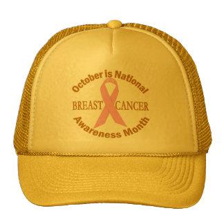 OCTUBRE es mes de la conciencia del cáncer de pech Gorros