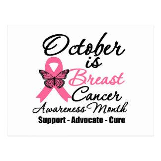 Octubre es mes de la conciencia del cáncer de pech tarjetas postales