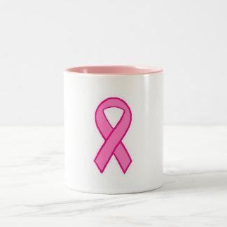 Octubre es mes de la conciencia del cáncer de pech tazas de café