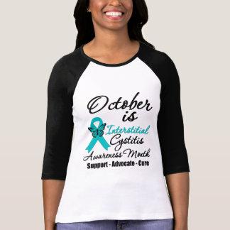 Octubre es mes intersticial de la conciencia de la camiseta