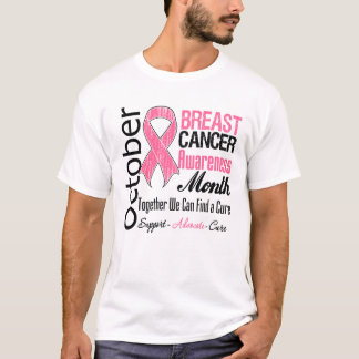 Octubre - mes de la conciencia del cáncer de pecho playera