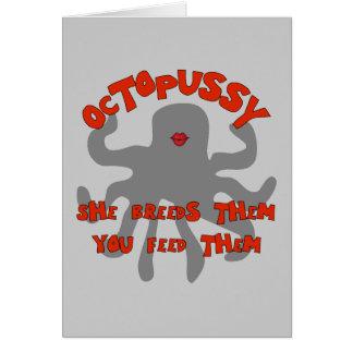 Octuplet Breeding Machine Greeting Cards