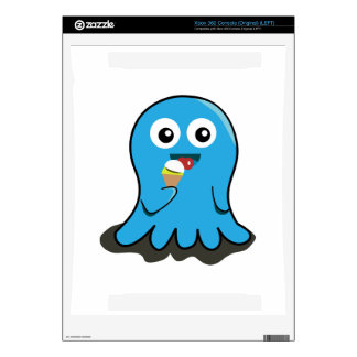 Octupus eating icecream cartoon xbox 360 console skins