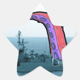 Octupus Star Sticker