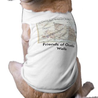 octwell_map, Friends of Ocotillo Wells Doggie Tshirt