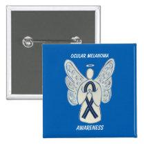 Ocular Melanoma Awareness Ribbon Angel Custom Pin