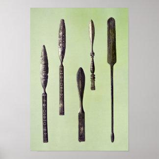 Oculist's instruments, c.270 poster