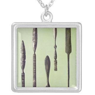 Oculist's instruments, c.270 square pendant necklace