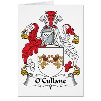 O'Cullane Family Crest Card
