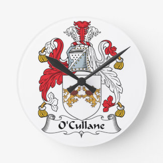 O'Cullane Family Crest Clocks