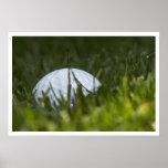 ocultación de la pelota de golf posters