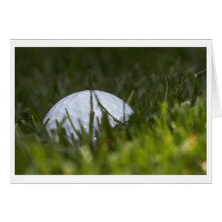 ocultación de la pelota de golf tarjeta de felicitación