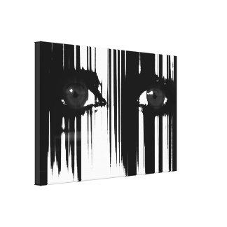 Ocultación detrás del dolor lona envuelta para galerías