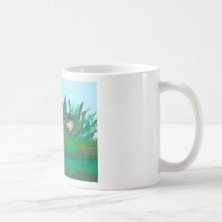 ocultación-hacia fuera taza de café