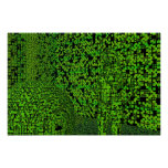 Ocultación verde de Techno Posters