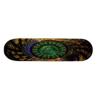 ocultado en monopatín del color skateboard