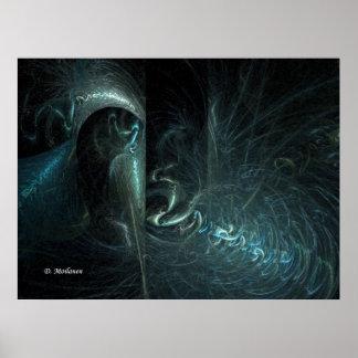 Oculte en las sombras (el lurker de Zazzle) Poster