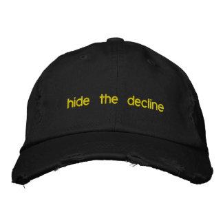 oculte la disminución gorra de béisbol bordada