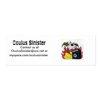 Oculus Sinister, myspace.com/oculussinister, Oc... Mini Business Card