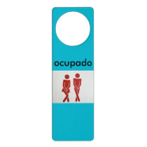 ocupado bathroom doorhanger