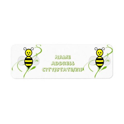 Ocupado como abeja de la abeja etiqueta de remitente