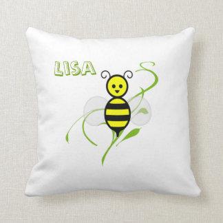 Ocupado como almohada personalizada abeja de la