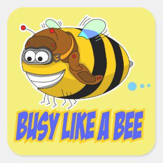 Ocupado como un pegatina de la abeja