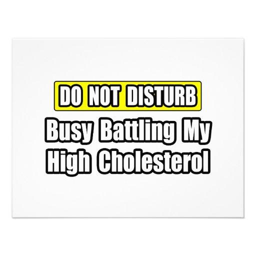 Ocupado luchando mi rico en colesterol anuncio personalizado