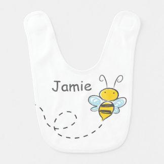 Ocupado manosee la abeja baberos para bebé