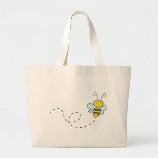 Ocupado manosee la abeja bolsa tela grande