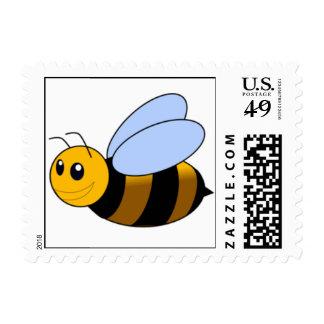 Ocupado manosee la abeja sello postal