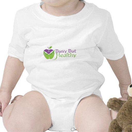 Ocupado pero sano trajes de bebé