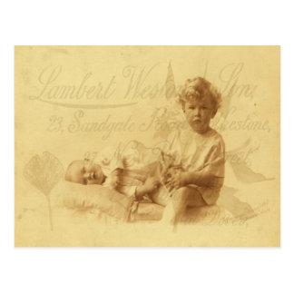 Ocuparse la postal del bebé