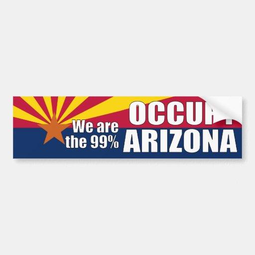 Ocupe a la pegatina para el parachoques de Arizona Pegatina Para Auto