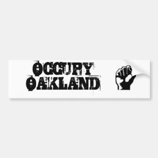 Ocupe a la pegatina para el parachoques de Oakland Pegatina Para Auto