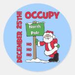 Ocupe a Polo Norte Etiquetas Redondas