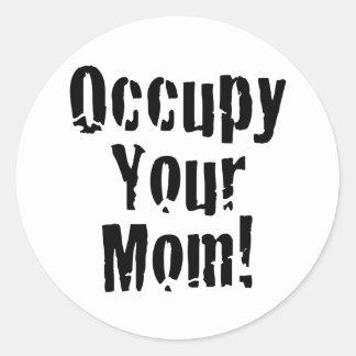 Ocupe a su mamá etiqueta