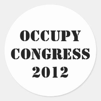 Ocupe al congreso 2012 pegatina redonda