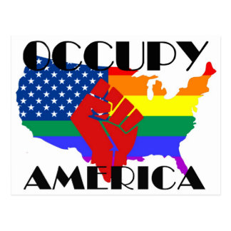 Ocupe América - LGBTQ Tarjetas Postales
