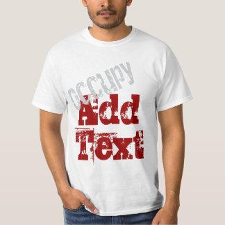 Ocupe - añada su propio texto poleras