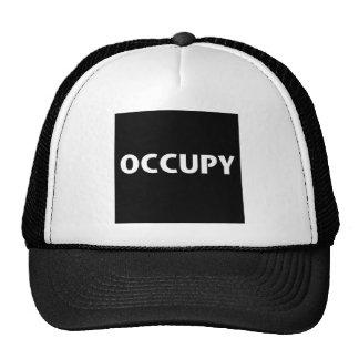 Ocupe (blanco en negro) gorros bordados