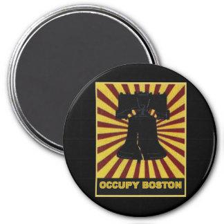 Ocupe Boston aviador octubre de 2011. Ocupe Wall S Imán Redondo 7 Cm