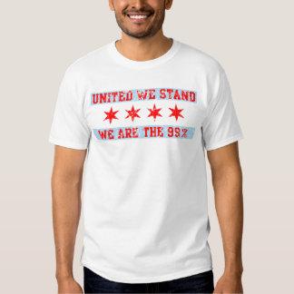 Ocupe Chicago nos unió colocan la camiseta Playera