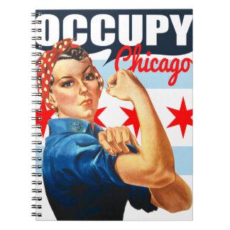 Ocupe Chicago Rosie el cuaderno espiral del remach