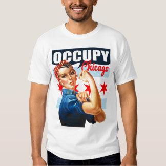 Ocupe Chicago Rosie la camiseta del remachador Polera