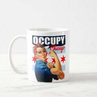 Ocupe Chicago Rosie la taza de café del remachador