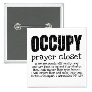 OCUPE el armario del rezo: botón Pin Cuadrado